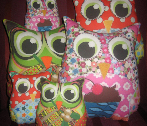 Boy Appliqué Patch Owl Plushies
