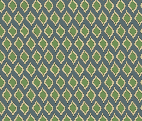 Leafy drops fabric by catru on Spoonflower - custom fabric