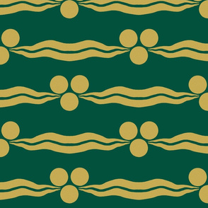 Ottoman Cintamani-Green and Gold