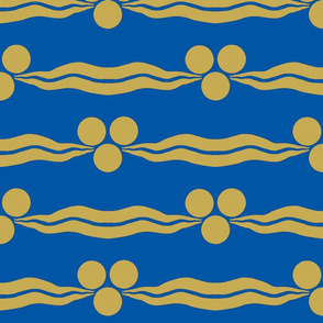 Ottoman Cintamani-Blue and Gold
