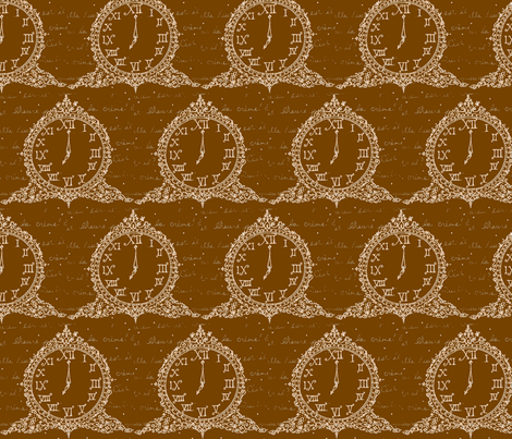 Time for Tea in Coffee fabric by fionas on Spoonflower - custom fabric