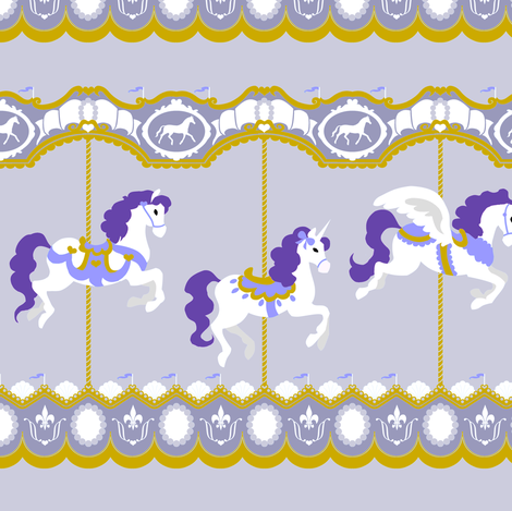 Carousel in Lavender fabric by tenderlovingclaire on Spoonflower - custom fabric