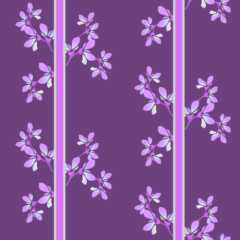 Bloom Stripe violet fabric by joanmclemore on Spoonflower - custom fabric