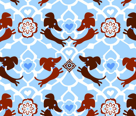 Moroccan Dachshunds fabric by siesta_drive on Spoonflower - custom fabric