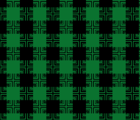 Circuit Square Ripple Plaid fabric by pond_ripple on Spoonflower - custom fabric