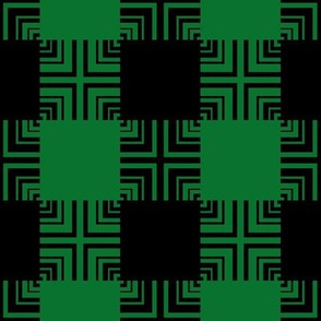 Circuit Square Ripple Plaid