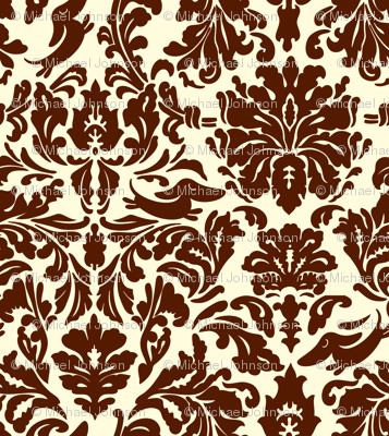 "Brocade pattern with ""hidden"" dachshunds."