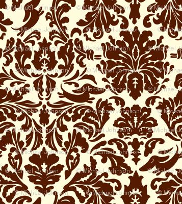 "Brocade pattern with ""hidden"" dachshunds."