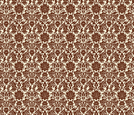 "Brocade pattern with ""hidden"" dachshunds. fabric by siesta_drive on Spoonflower - custom fabric"