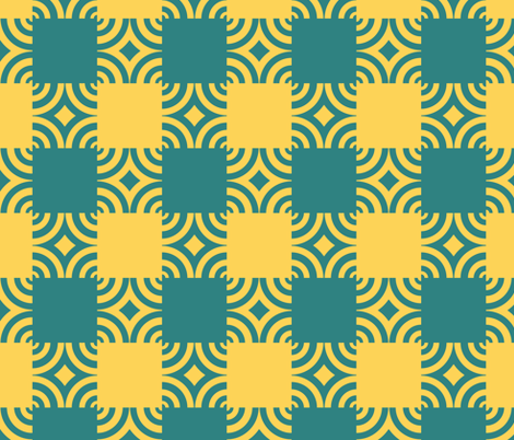 Golden Sea Serpent Ripple Plaid