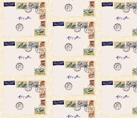 French Postage basic repeat fabric by karenharveycox on Spoonflower - custom fabric
