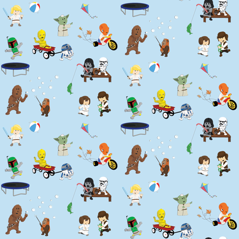 Star Wars Kids fabric by nixongraphix on Spoonflower - custom fabric