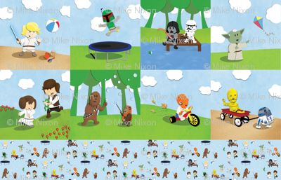 Star Wars Kids Fat Quarter