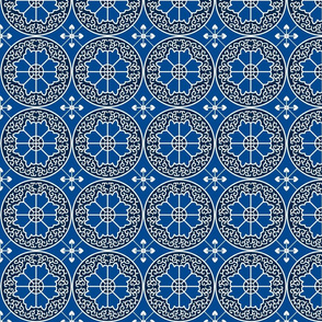 Egyptian Flowers-Blue
