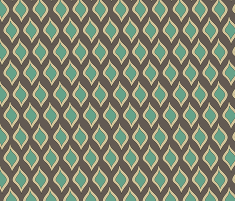 Leafy drops - brown fabric by catru on Spoonflower - custom fabric