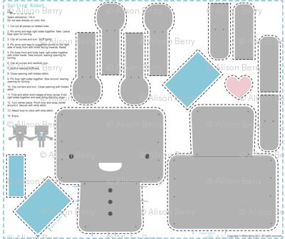 Darling Robot (sewn example shown)