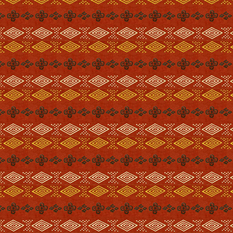 Honma Hayakuri Scarlet No. I 1906 fabric by maxje on Spoonflower - custom fabric