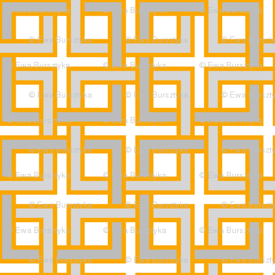 Interlocking squares orangeys
