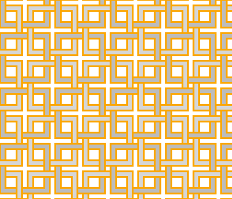 Interlocking squares orangeys fabric by ravynka on Spoonflower - custom fabric