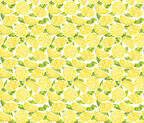 Lemons! fabric by katrinazerilli on Spoonflower - custom fabric
