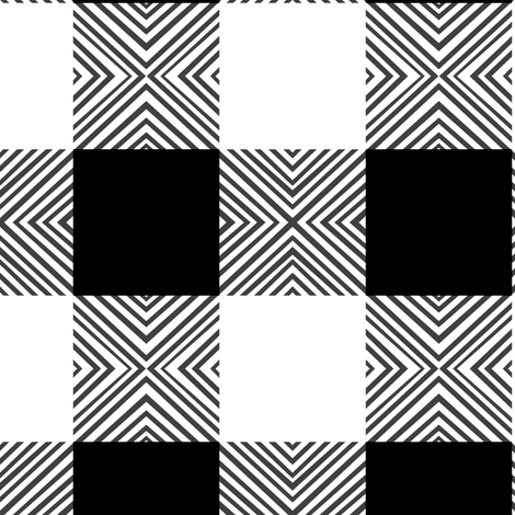 Black & White X Plaid fabric by pond_ripple on Spoonflower - custom fabric