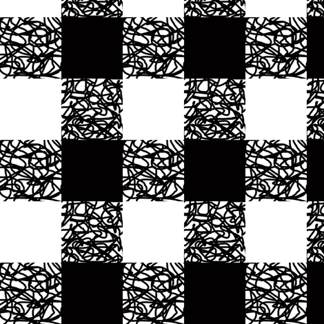 Black & White Scumbling Plaid fabric by pond_ripple on Spoonflower - custom fabric