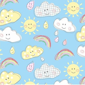 Rui Rui's Rainbow Sky blue option