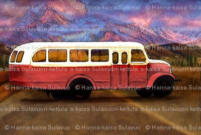 old_volvo_scania_bus_vintage_with_mountains_and_foothill
