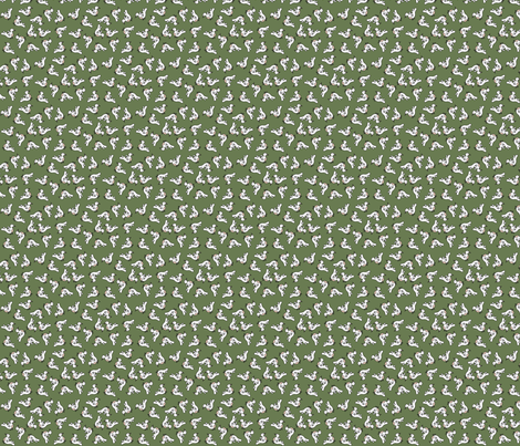 Tiny birds - green fabric by catru on Spoonflower - custom fabric