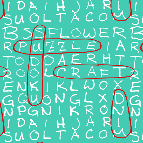 Teal Word Search
