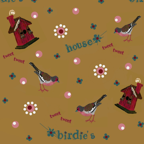 birdie's house #1 fabric by paragonstudios on Spoonflower - custom fabric