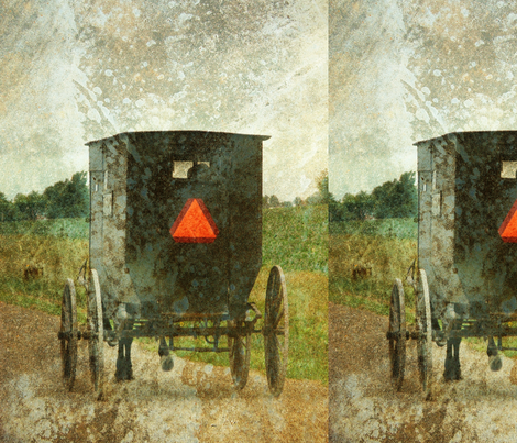 Amish Buggy fabric by angelandspot on Spoonflower - custom fabric