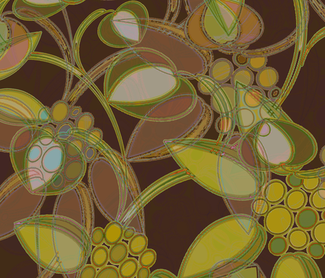 Jungle Fall floral fabric by joanmclemore on Spoonflower - custom fabric