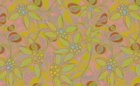 Large Scale Floral Heather fabric by joanmclemore on Spoonflower - custom fabric