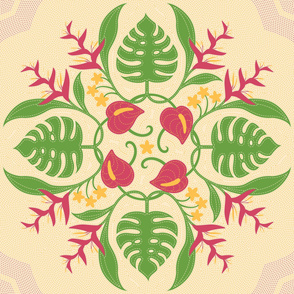 Hawaiian Quilt Circle of Flora