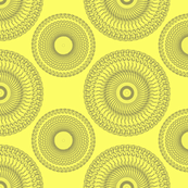 Yellow and Grey Medallions