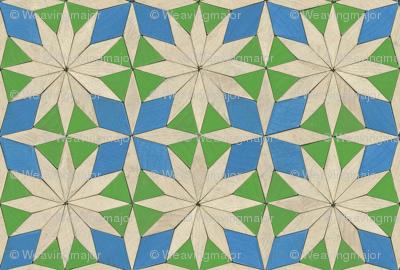 pattern blocks - star and cross