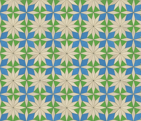 pattern blocks - star and cross fabric by weavingmajor on Spoonflower - custom fabric