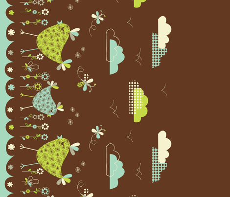 bird border print fabric by amel24 on Spoonflower - custom fabric