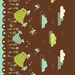 bird border print