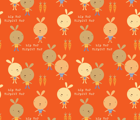hippity hop fabric by amel24 on Spoonflower - custom fabric