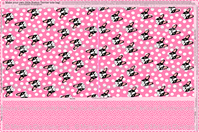 Pink Boston Terrier Tote Bag