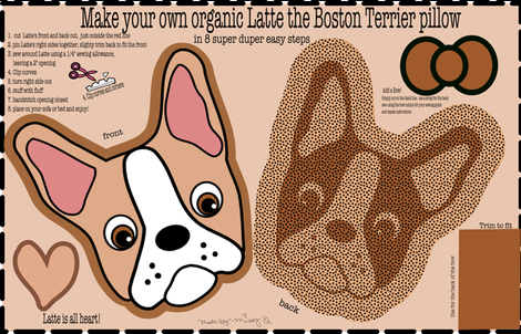 Latte the Boston Terrier Pillow fabric by missyq on Spoonflower - custom fabric