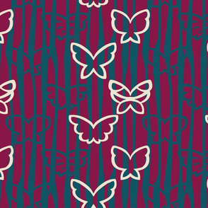 Tangled Butterflies I - Organic Lines