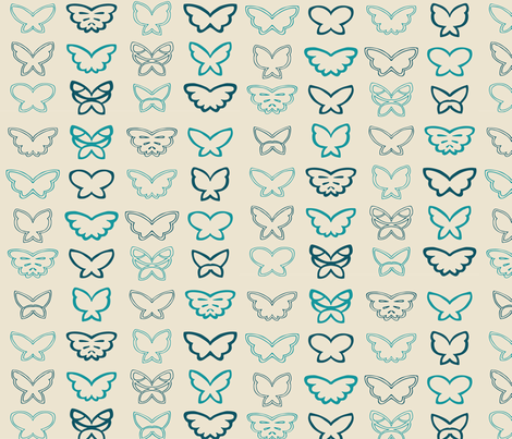 Tangled Butterflies I - Geometric fabric by noaleco on Spoonflower - custom fabric
