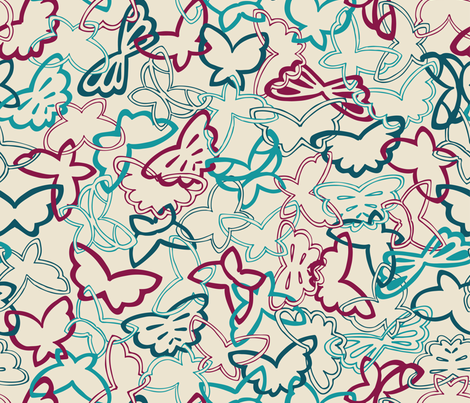 Tangled Butterflies I - Main fabric by noaleco on Spoonflower - custom fabric