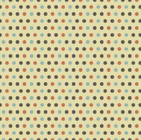Coffee - Polka dots fabric by catru on Spoonflower - custom fabric