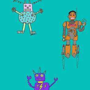 Caleb's Triple Robots sideways