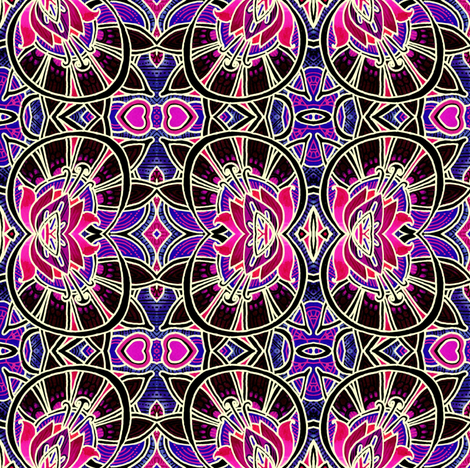 Victorian Windows (magenta negative) fabric by edsel2084 on Spoonflower - custom fabric