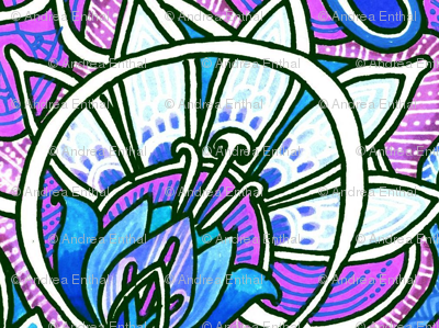 Victorian Windows (lavender/blue)